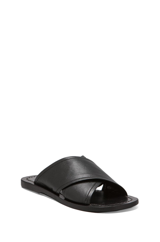 Elliott Label Slide Sandal in Black | REVOLVE