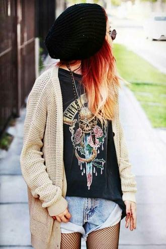sweater punk rock punk hipster punk guns and roses rock shirt shorts hat