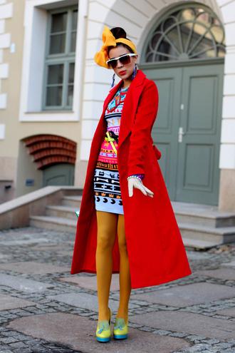 macademian girl coat dress shoes bag sunglasses scarf jewels belt