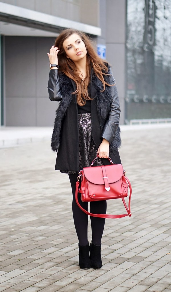 a piece of anna bag coat jacket skirt shoes