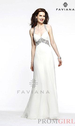 Prom Dresses, Celebrity Dresses, Sexy Evening Gowns - PromGirl: Floor Length Embellished Ashley Benson Faviana Dress 7118