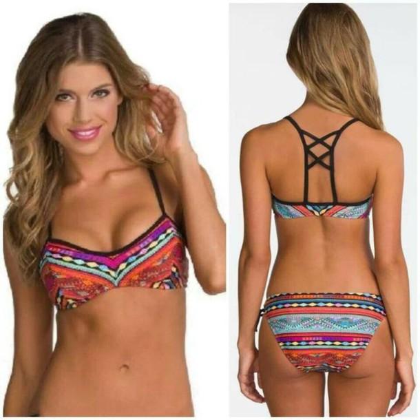 swimwear funny tribal pattern back patterned swimwear
