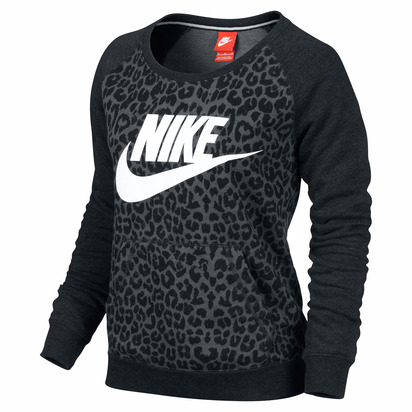 Nike Women's Rally Cheetah Crew - Black Patterned - Sport Chalet