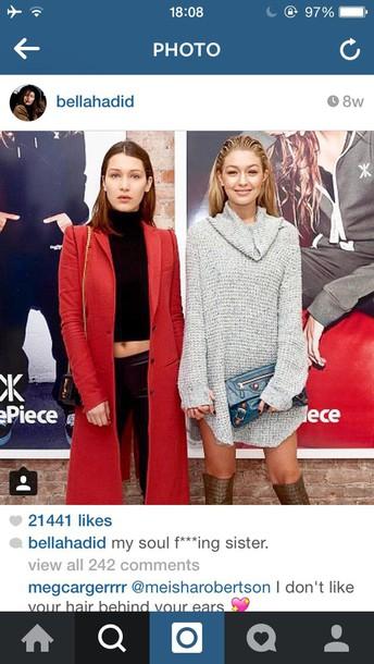 knitwear gigi hadid sweater dress knitted dress