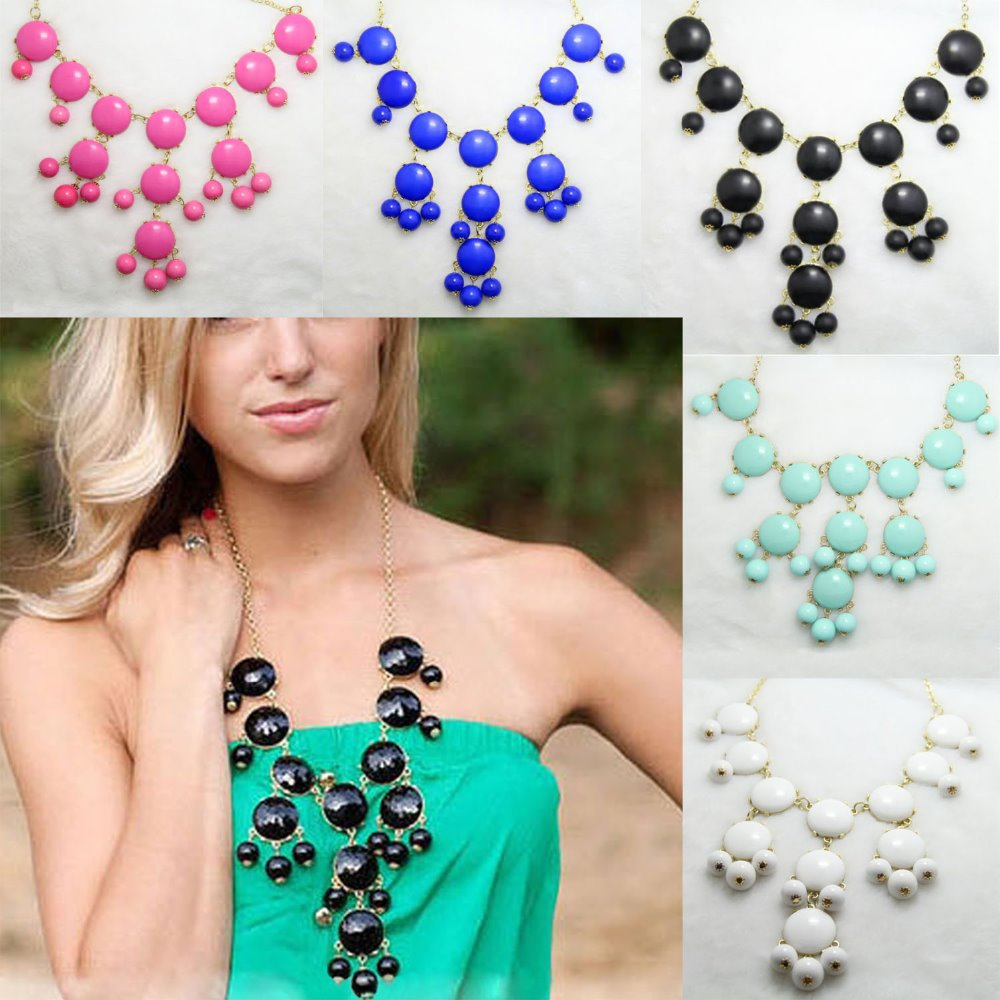 Aliexpress.com : Buy 2014 Fashion Clothing Accessories Necklace Women Bubble Bib Resin Bohemia Chain Necklace Candy Colors Fashion from Reliable candy necklace craft suppliers on Dola's Wardrobe