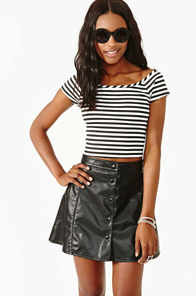 Vertical Limit Crop Top  in  Clothes Tops Cropped at Nasty Gal