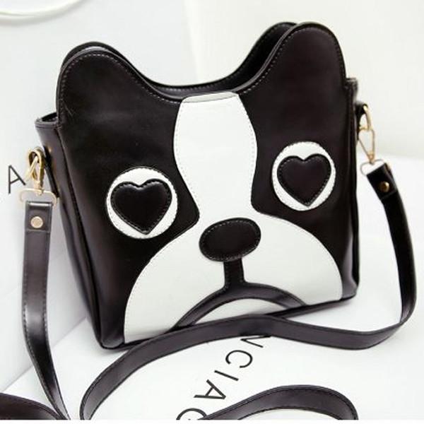 bag dog carton fashion handbag bag vintage black