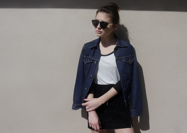 fire on the head t-shirt skirt jacket sunglasses