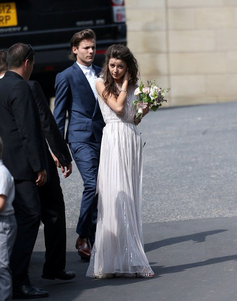 Dress: eleanor calder, louis tomlinson, wedding, bridal ...