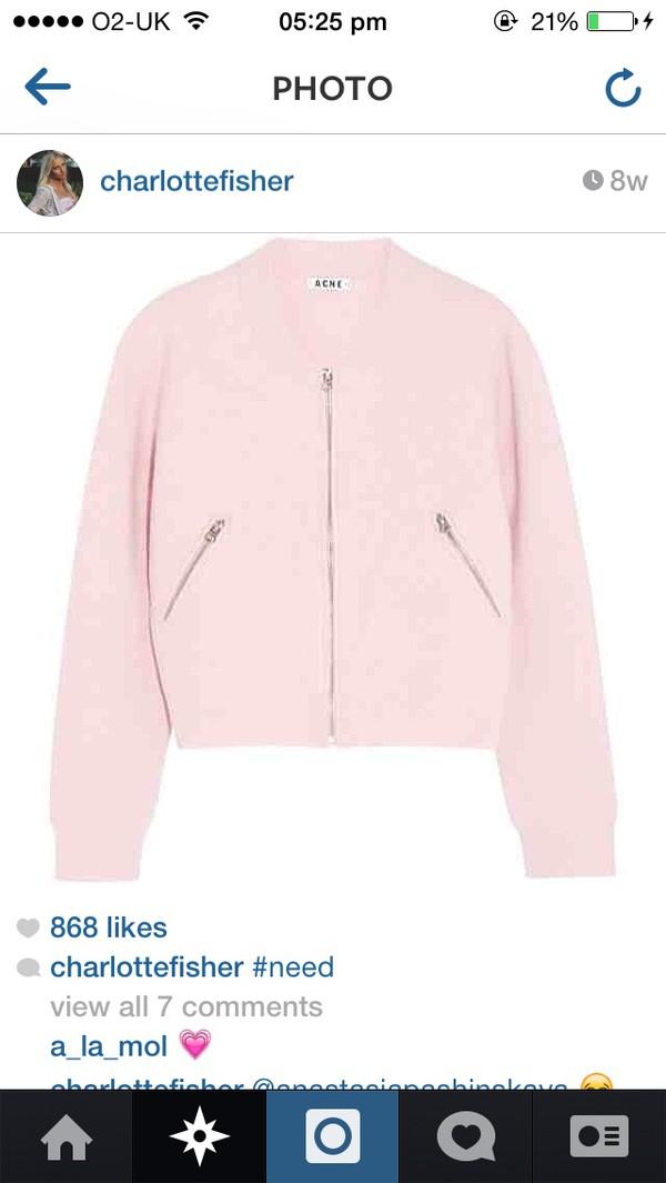 jacket coat blouse t-shirt pink