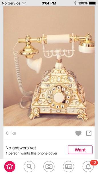 home decor home accessory telephone vintage gold vintage decor