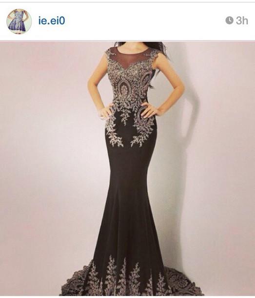 dress black dress evening dress prom dress black prom dress black evening dresses lace dress long prom dress long dress