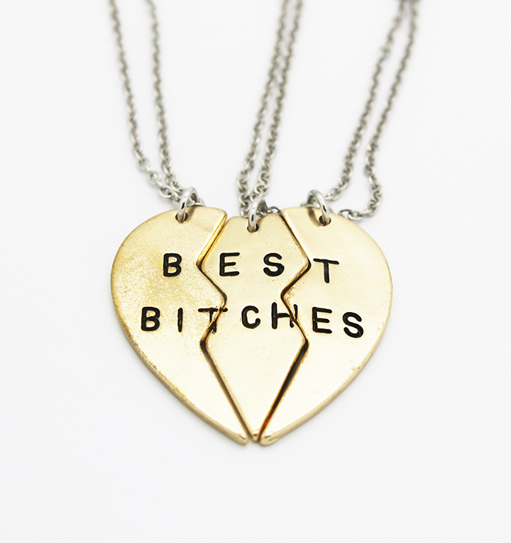 Best Bitches Necklace Set - Love Always by Stephanie Diaz