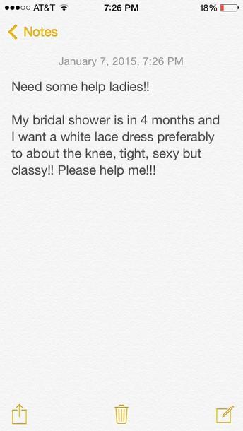 dress white dress lace dress knee length dress