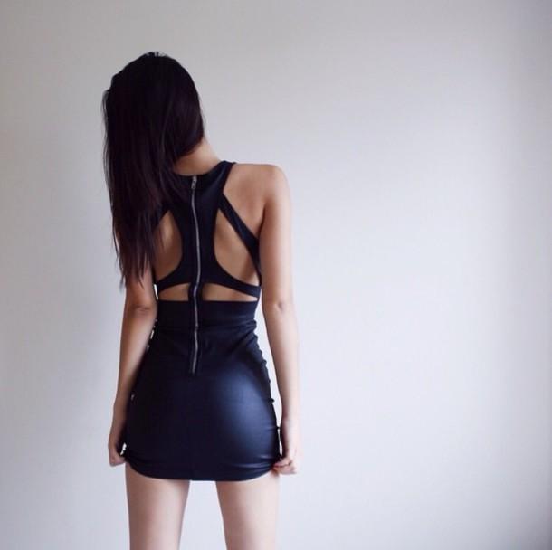 dress cut-out mini dress