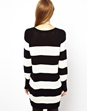Monki | Monki Stripe Crew Neck Sweater at ASOS