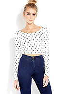 Sweet Dots Crop Top | FOREVER21 - 2000091070