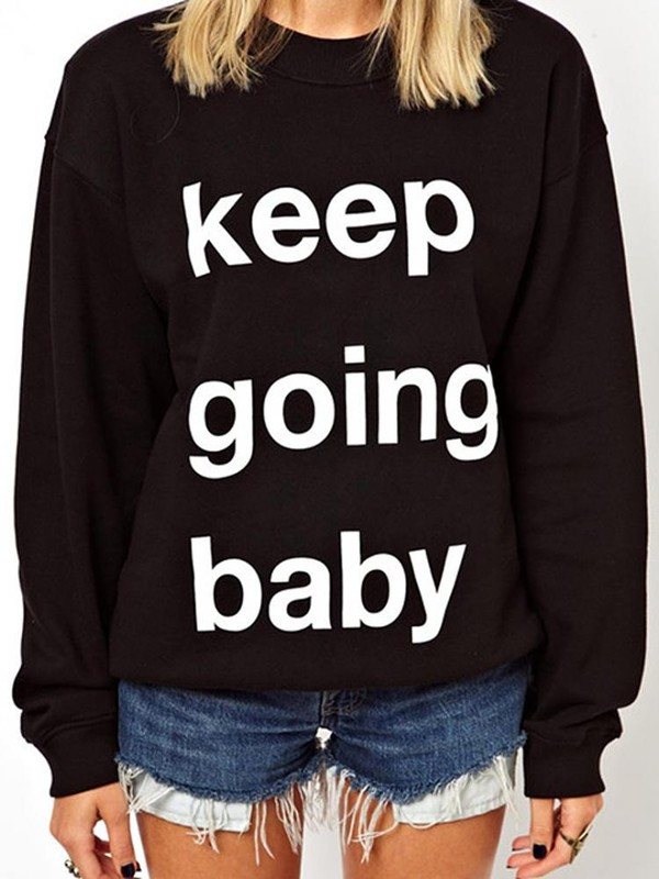 shirt bagy sweater clothes brand Choies shorts quote on it