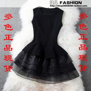 Taobao European stations spring big temperament ladies dress organza dress Slim vest skirt tutu cakeypoosmqmkpj from English Agent:BuyChina.com