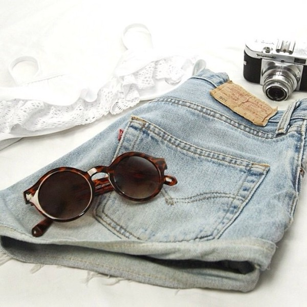 shirt jeans summer outfits sunglasses shorts
