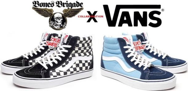 shoes vans skater skateboard bones printed vans