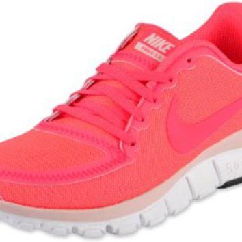 Nike Wmns Nike Free 5.0 V4 Hot Punch Pink 2012 Womens Running Shoes 511281-606 on Wanelo