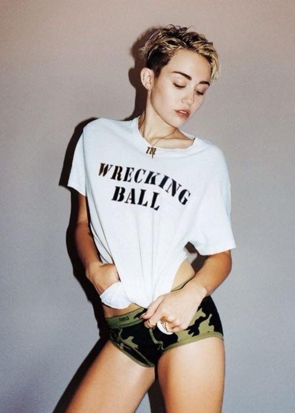 shirt miley cyrus wrecking ball