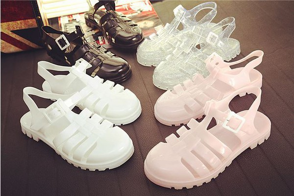 shoes sandals rubber girl