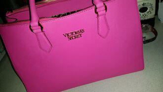 bag pink victoria's secret michael kors bag fashion handbags women leather handbags bright pink