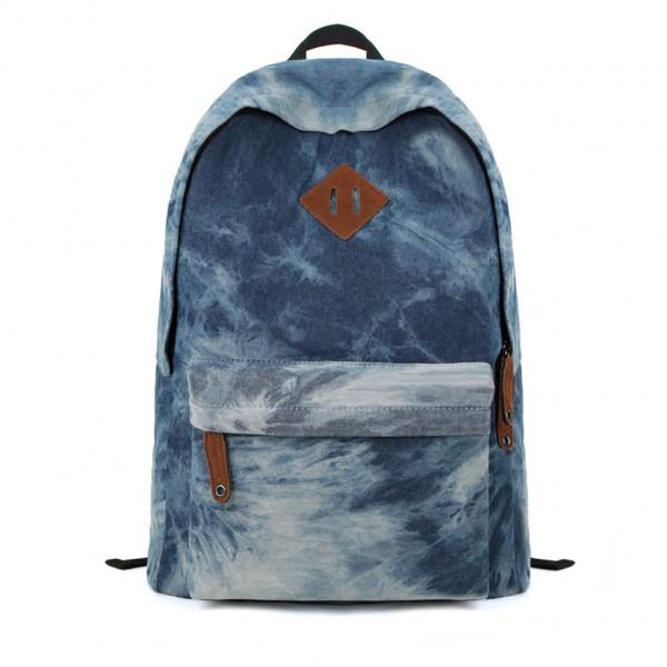 Blue Tie Dye Backpack School Bag on Luulla
