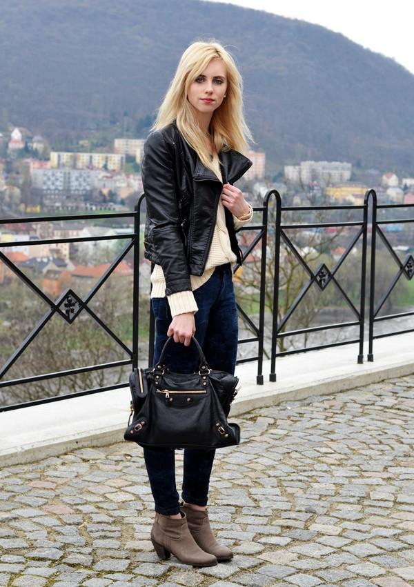 vogue haus sweater jacket jeans shoes bag jewels