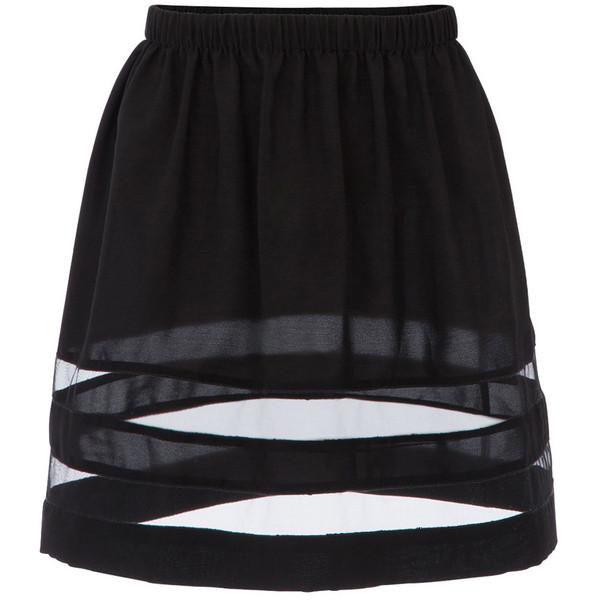 Gat Rimon Black Bess A-Line Skirt - Polyvore