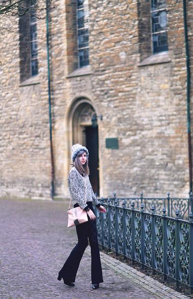 bekleidet blogger winter sweater shoulder bag sweater pants shoes bag jewels