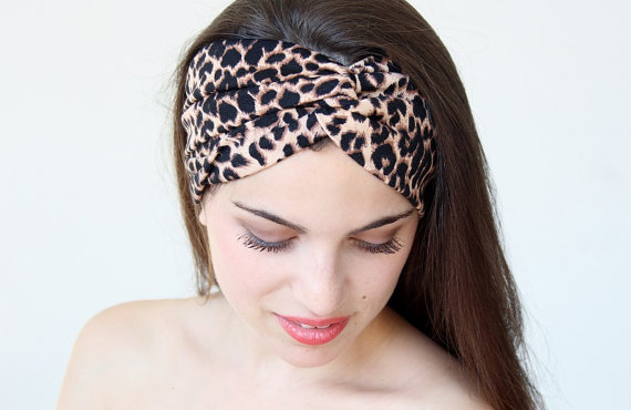 Very Cute twisted Headband leopard print   great by aCutee on Etsy