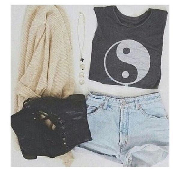 tank top yin yang yin yang yin yang cool hipster funny yay outfit cute tank top tank top