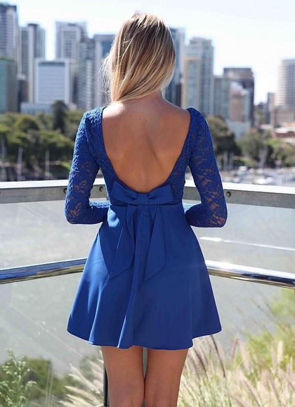 dress lace dress Bow Back Dress bow bow back skater dress