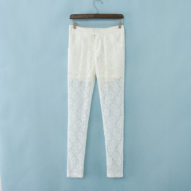 2014 New Women Super Casual Lace Pants Lady Fashion Trousers, TW1102 E02-in Pants & Capris from Apparel & Accessories on Aliexpress.com
