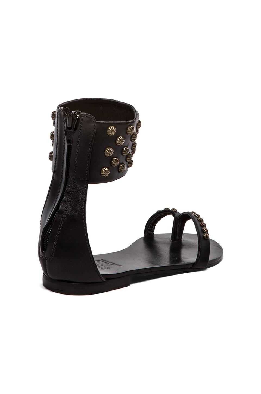 ANINE BING Ankle Cuff Sandals in Black   REVOLVE