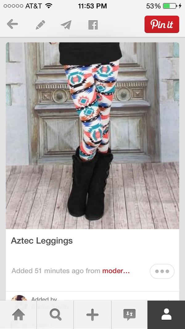 leggings aztec leggings tribal leggings