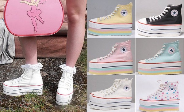 shoes converse platform shoes high heel creepers converse