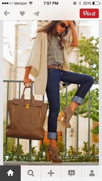 shoes bag light brown jacket brown high heel booties booties block heels wooden heel ankle boots