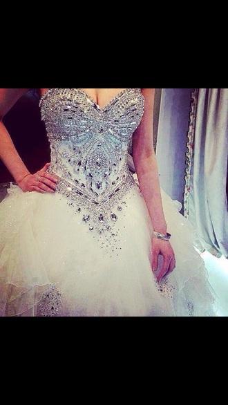 dress white white dress snowflake snow white dazzle top crystal