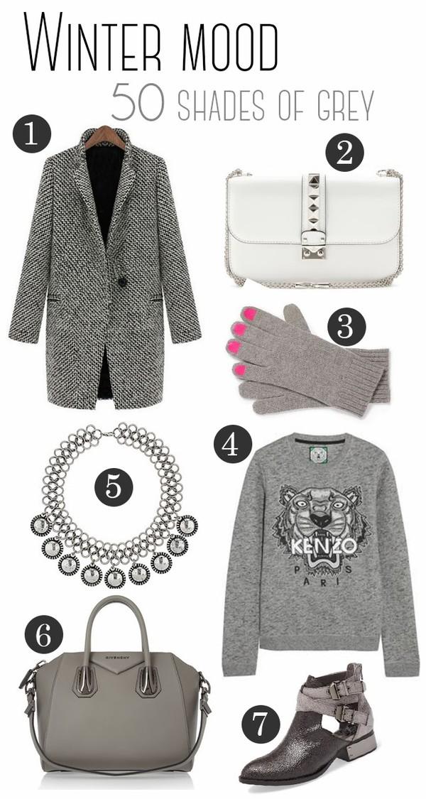 frau eismann coat bag sweater jewels shoes