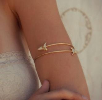 jewels bracelets arm cuff gold hippie jewelry fossil tooth