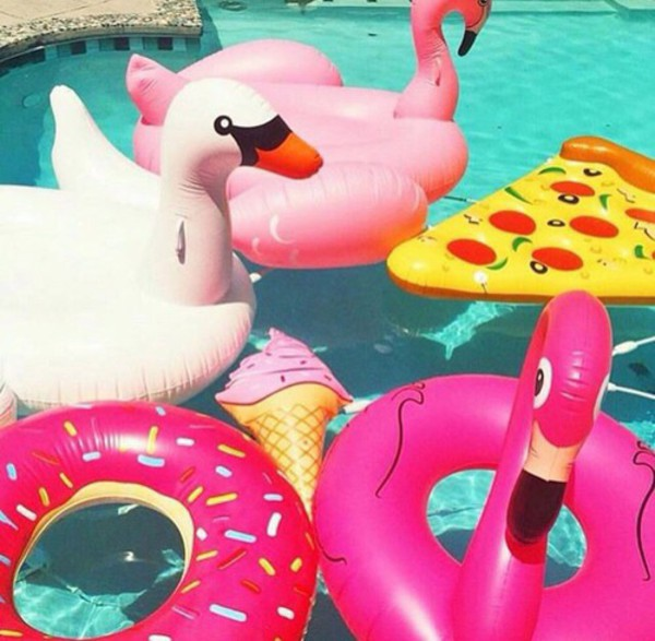 Home accessory summer pool float pizza pool float donut pizza flamingo ice cream beach - Flotadores gigantes ...