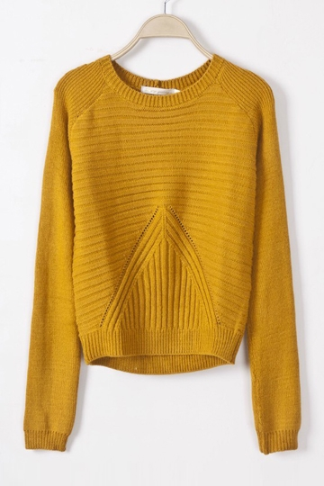 Leisure Round Neck Knit Sweater [FKBJ10205]- US$29.99 - PersunMall.com