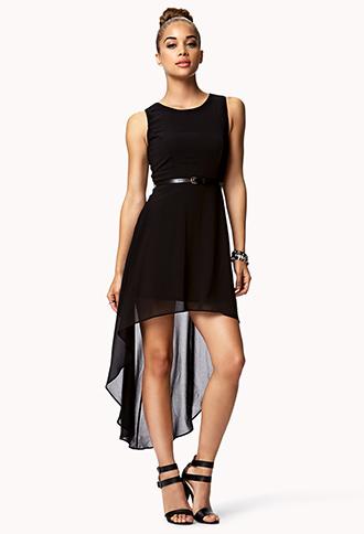 Sleeveless High-Low Dress w/ Belt | FOREVER21 - 2052287825