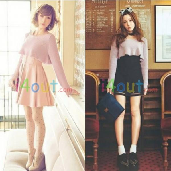 Women Cute Chic Half Japan Style Length Sweater Pullover Jumper | eBay