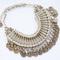 'zashaia' ➳ turkish silver coin collar necklace - shantique designs
