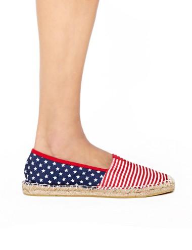 Stripe Espadrilles - Cute Slip On Shoes -$29